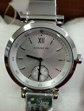New COACH Women PHOEBE Bangle Bracelet Watch Stainless Steel 14mm NWT