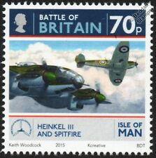 RAF SPITFIRE & HEINKEL He.111 WWII Aircraft Stamp #5 (Battle of Britain) 2015