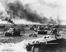 """German Tanks, Half Track on Russian Warfront 8""""x 10"""" World War II WW2 Photo 467"""