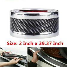 Carbon Fiber Car Door Welcome Plate Sill Scuff Cover Decal Sticker Universal