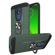 For Motorola Moto G7 Power Phone Case Shockproof Rugged Armor Stand Back Cover