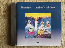 Shankar – Nobody Told Me Etichetta: ECM Records – CD