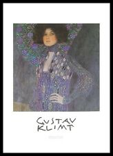 Gustav Klimt Emilie Flöge Poster Bild Kunstdruck im Alu Rahmen schwarz 70x50cm