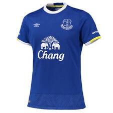 Camisetas de fútbol de manga corta azul Umbro