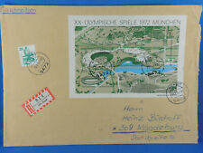 GERMANY REGISTERED COVER 1972 with s/s Olympic Games 1972 Munich  (G8/64)