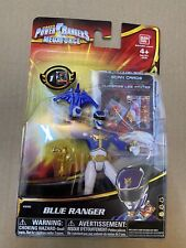 "NEW Power Rangers Megaforce Blue Ranger 4"" Action Figure Goseiger #35102 Bandai"