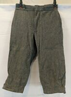 Men's 30 Vintage Late 60's WOOLRICH Gray Doubleseat Knickers Hunting Wool