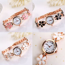 Women Fashion Flower Round Dress Watch Quartz Analog Bracelet Wrist Watches NEW
