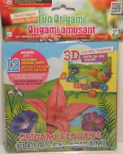 Origami FLOWERS FLORAL DELIGHT Lily 3D Playmat Paper Instructions Arts Crafts