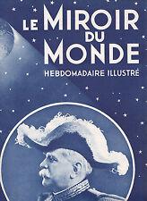 Le Miroir du monde N°44 du 3 janvier 1931 Joffre d'Annunzio Java Einstein