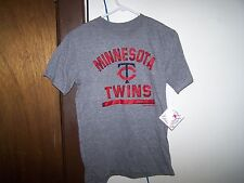 Minnesota Twins  WORN LOOK  SHORT SLEEVE  Youth T-shirt - MEDIUM  10 -12  MLB