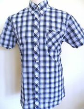 Ben Sherman Men's Cotton Blend Short Sleeve Check Casual Shirts & Tops