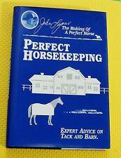 JOHN LYONS HORSE BOOK Perfect Horsekeeping HARDBACK/DJ tack barn equine