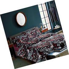 Ashler Printed Duvet Cover Set - Brushed Microfiber Luxury Comf. Free Shipping