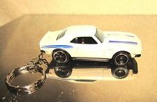 2014 Hot Wheels '68 White Copo Camaro SS Classic Antique Custom Key Chain Ring!