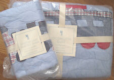 NEW Pottery Barn Kids LOCOMOTIVE TRAIN TWIN QUILT+ SHAM ~ LAST ONE ~ HOLIDAY!