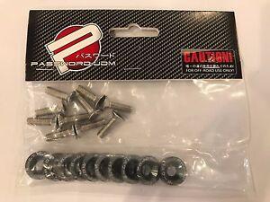 Password JDM Fender Washers (Gunmetal) 10 pieces Bumper Washer Fast USA Shipping