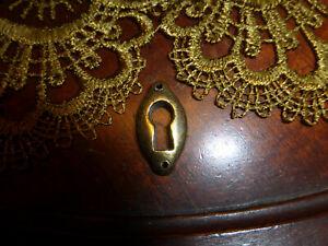 Solid Brass Oval Shaped Keyhole/Keyhole Cover #2