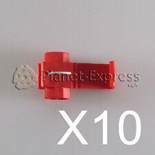 10 x Conectores cable Rapidos roba corriente Scotch Lock 0,5 a 1mm. AWG 22-18