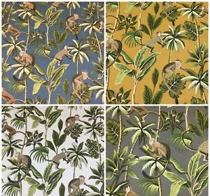 Fryetts MONKEY (Jungle) Cotton Fabric.Upholstery/Curtains/Cushions 4 Colours