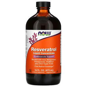 Now Foods, Resveratrol, Liquid Concentrate, 16 fl oz (473 ml)