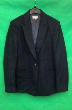 Jaeger Ladies Blazer Jacket Navy Blue Wool Blend Size 14
