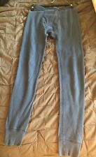 Men's Vintage COVINGTON Teal Thermal Underwear Pants Long John Cotton Sz S