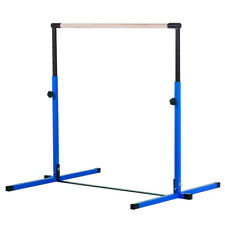 New Nimble Sports Blue Adjustable Horizontal Bar Gymnastics Junior Kip Bar