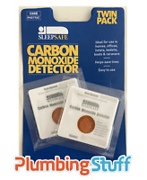 Carbon Monoxide Detector Patches SLEEPSAFE Twin Pack x2 CO Alarm Caravan Bedsit