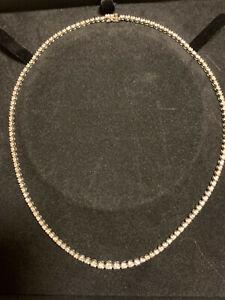 DEAL! Estate Diamond Necklace 3 Carats 18k White Gold
