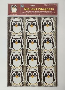 DIE CUT OWL MAGNETS - Refrigerator Reminders, Whiteboard Notes