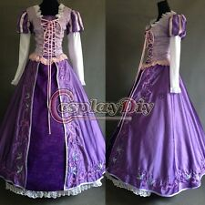 Tangled Rapunzel Princess Dress Deluxe Embroidered Costume Adult Women's Fantasy