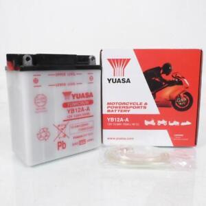 Batería Yuasa Para Moto Honda 400 CB F F1 F2 1975A 1979 YB12A-A/12V 12Ah