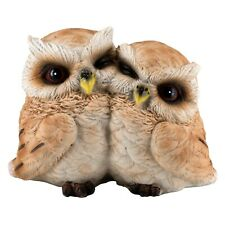 "Owl Couple Figurine Statue 3.25"" High Resin New In Box!"
