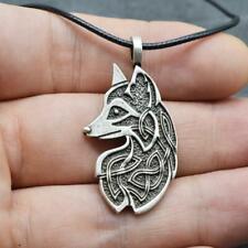1pc Viking Fox Amulet Necklaces Celtics Knot Pendant Jewelry For Women Men