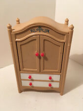Vintage Tomy Dollhouse Furniture Armoire bedroom #10