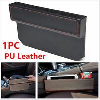 1X PU Leather Catch Box Catcher Caddy Car Seat Slit Pocket Storage Organizer New