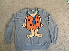 THE FLINSTONES  Fred Costume with tie, Orange on Gray Unisex LARGE Sweater
