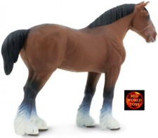 CLYDESDALE BAY STALLION HORSE TOY MODEL by SAFARI LTD 157805 *NEW WITH TAG*