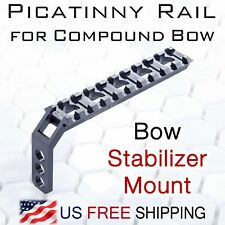 Picatinny Rail for Compound Bow-Stabilizer Mount - Bowhunting Bowfishing -CNC T6
