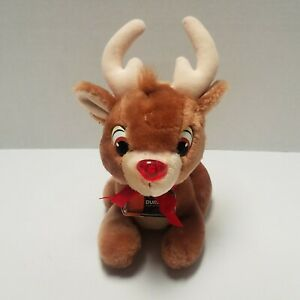 """Vtg Energizer Applause Rudolph The Red Nosed Reindeer 7"""" Plush Stuffed Animal"""