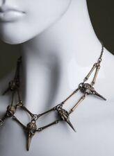 Steampunk RAVEN Pendant Necklace Bird SkullUnisex Mens Necklace Boho Jewelry