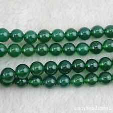 "Wholesale 10mm Round Onyx Green Agate Stone Loose Beads Strand 15"" AAA"