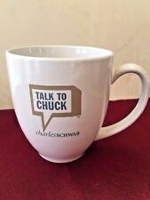 CHARLES SCHWAB Mug Coffee TALK TO CHUCK Large Size MWare  DF