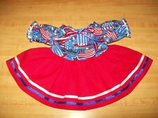 """16"""" CPK Cabbage Patch Kids RED DRESS STAR FLAG STARS+STRIPES 4TH JULY PATRIOTIC"""