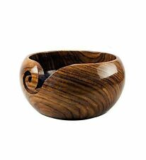 Premium Rosewood Crafted Wooden Portable Yarn Bowl | Knitting Bowls | Crochet