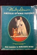 Wesley Dennis PORTFOLIO OF HORSE PAINTINGS Equestrian Art Book REMOVABLE PLATES
