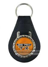 YAMAHA TX 750   MOTORCYCLE  leather  keyring keychain keyfob