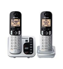Panasonic KX-TGC222S DECT 6.0 Cordless Phone System w/ Call Block & Silent Mode