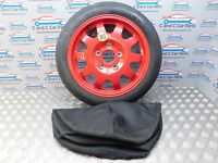 "Porsche 986 17"" alloys 3.5j 3.5mm continental tread  red spare wheel &bag *330"